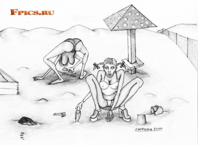Девочки в песочнице