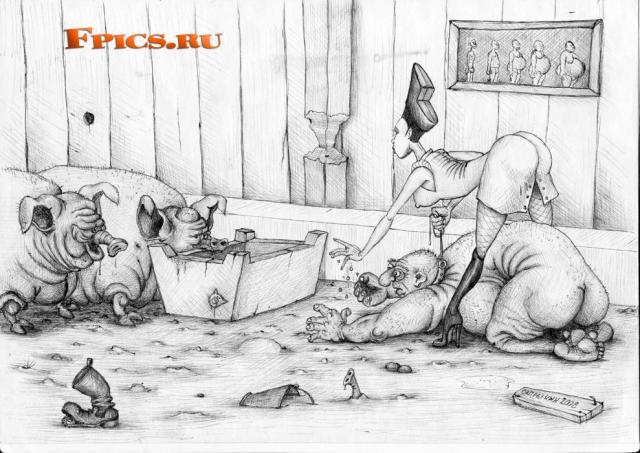 Откармливание жирняков до свинотского состояния