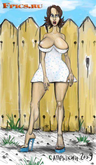 Стеша в белом платьице в горошек
